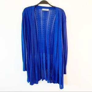 Sweaters - Cobalt Blue Open Front Knit Cardigan